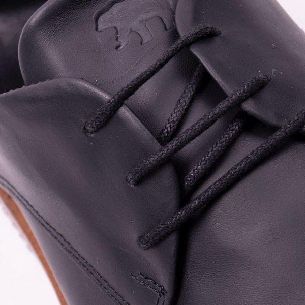zapato de cuero de vestir hombre negro