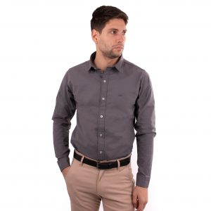 camisa lisa hombre vestir