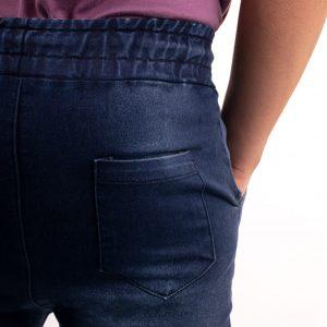 pantalon babucha jean con puño de hombre