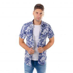 camisa de hombre manga corta de fibrana hawaianas livianas y frescas