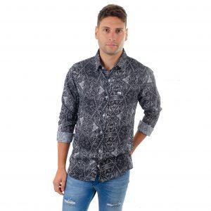 camisa fibrana verano suelta fresca floreada